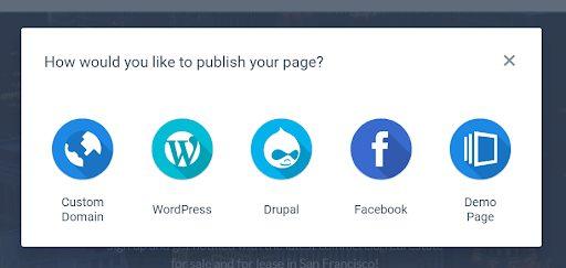 Instapage-publishing-options