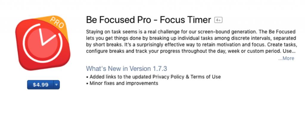 be focused pro