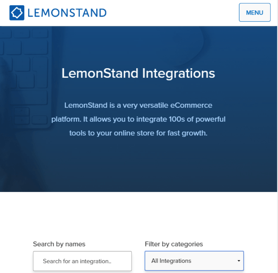 lemonstand integrations