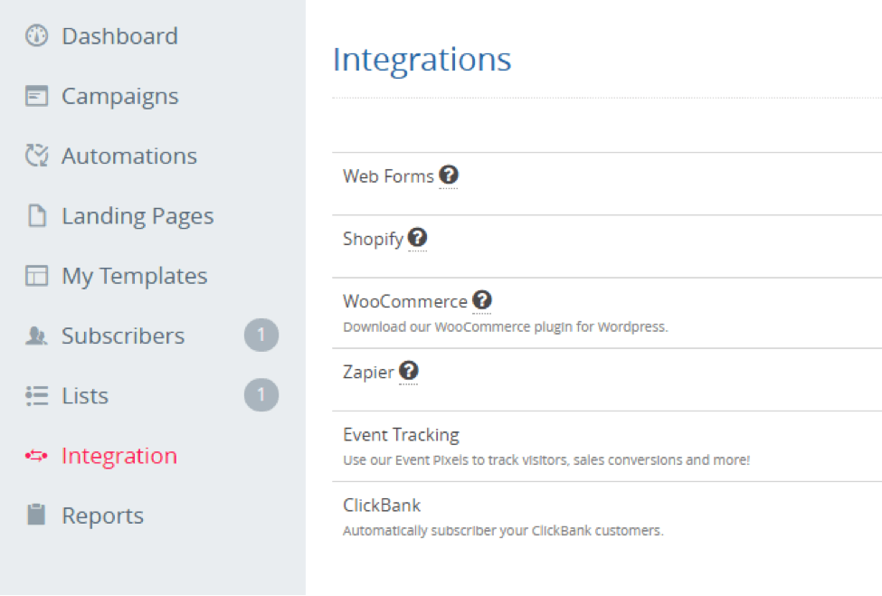 sendlane integrations