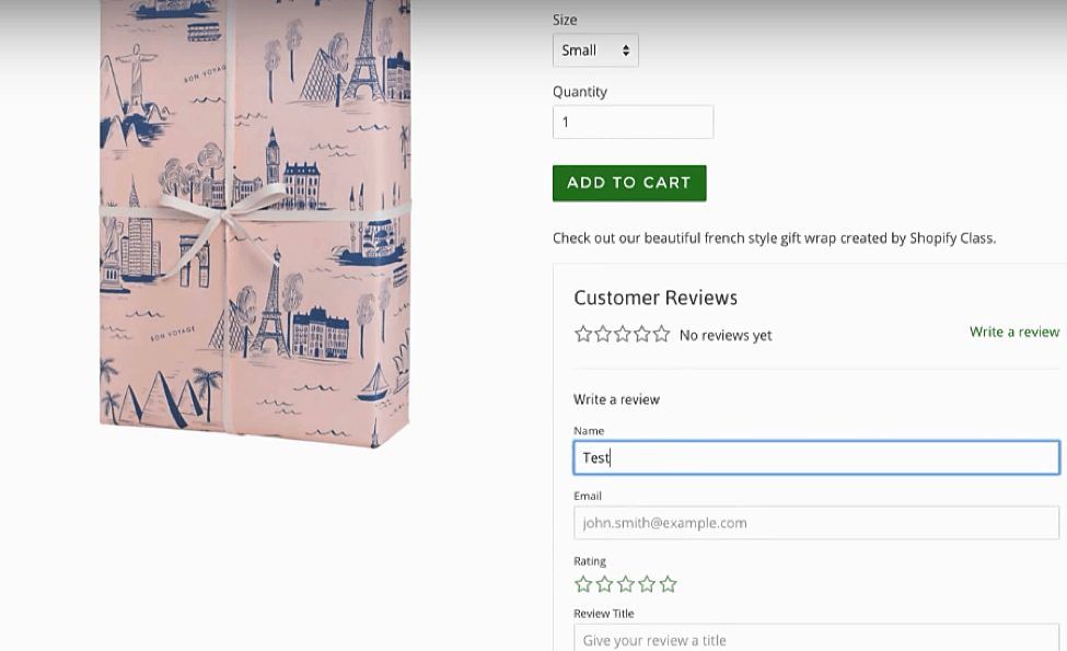 shopify product