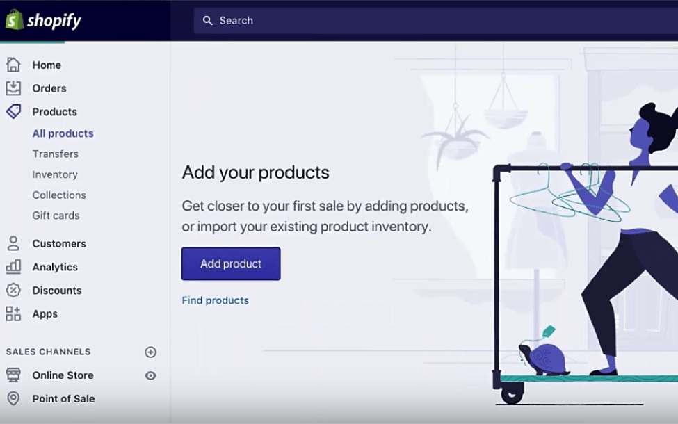 shopify products