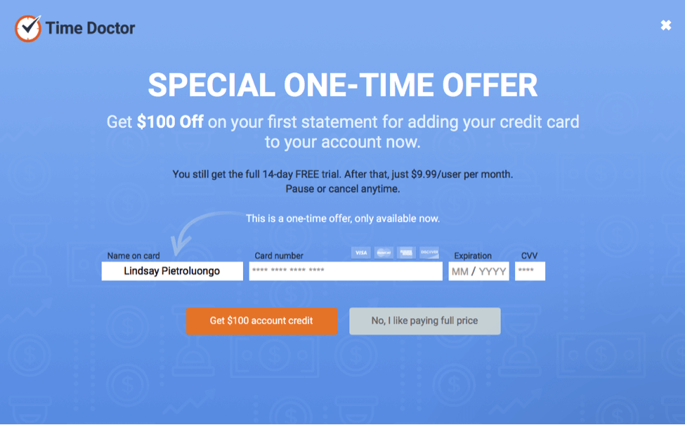 time doctor one offer