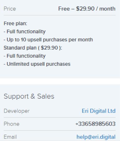upsell pricing