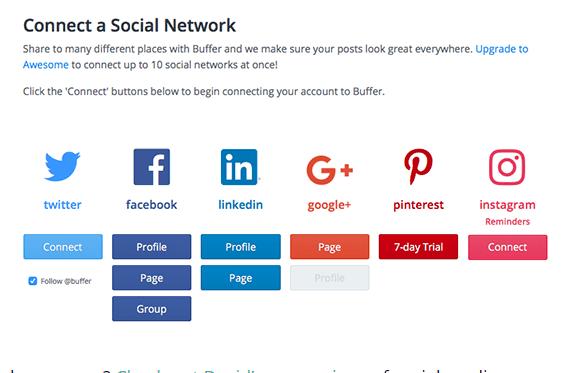 Buffer social networks