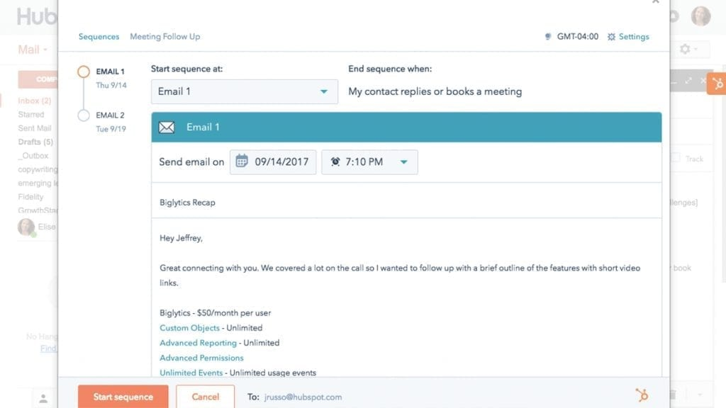 HubSpot-Email-Sequence