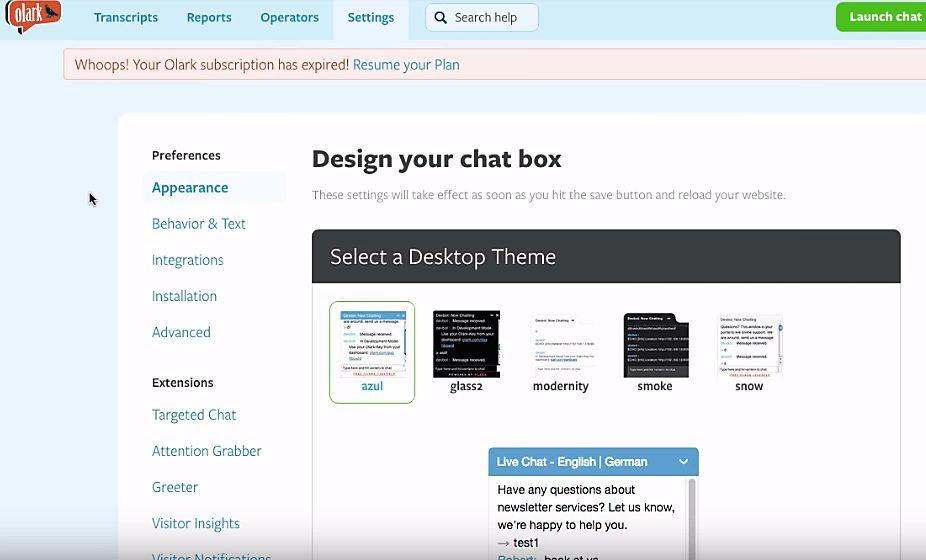 Olark-design-chat