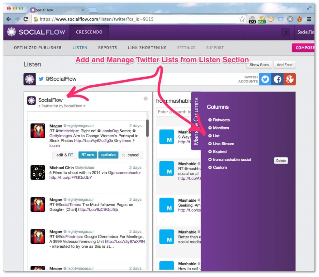 Socialflow Manage Twitter