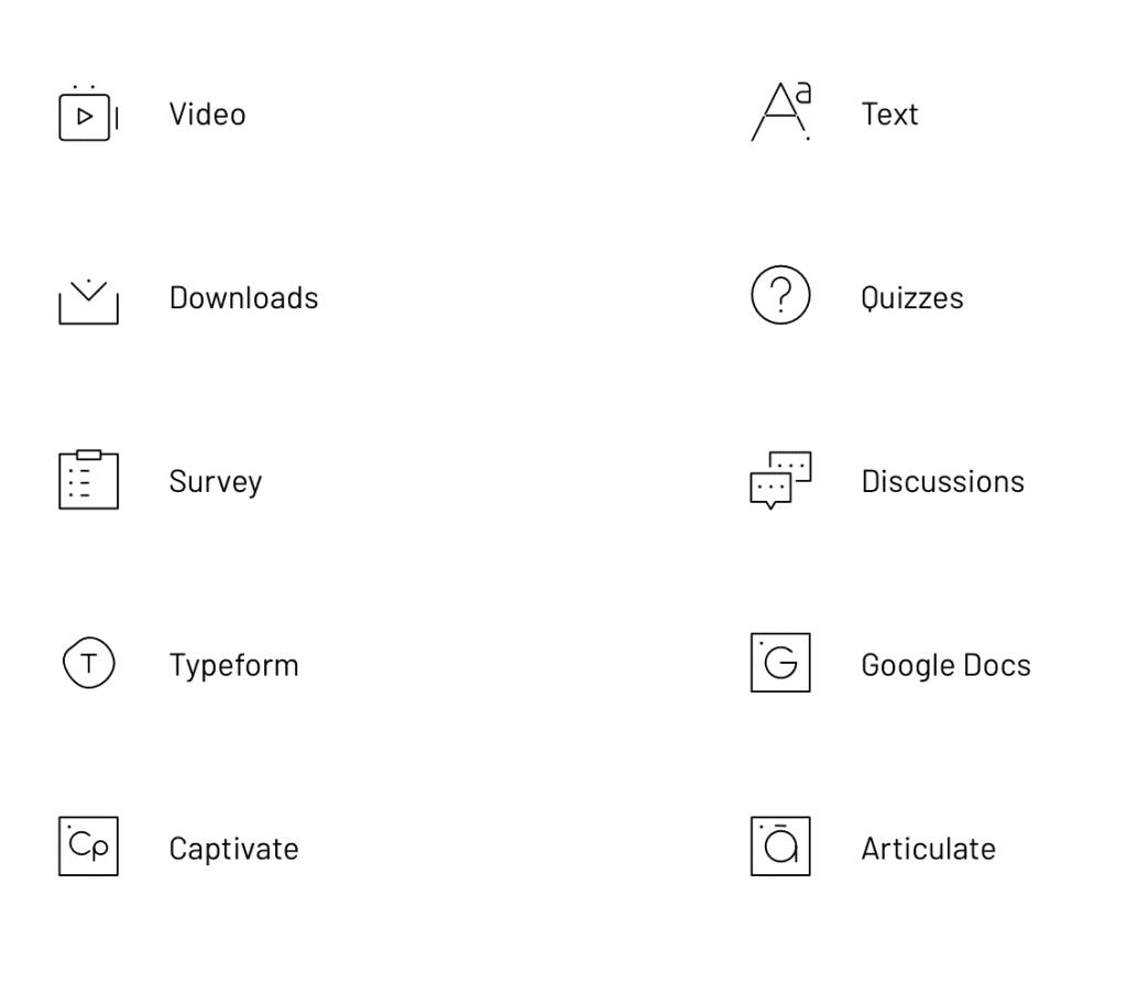 Thinkific Multimedia Types