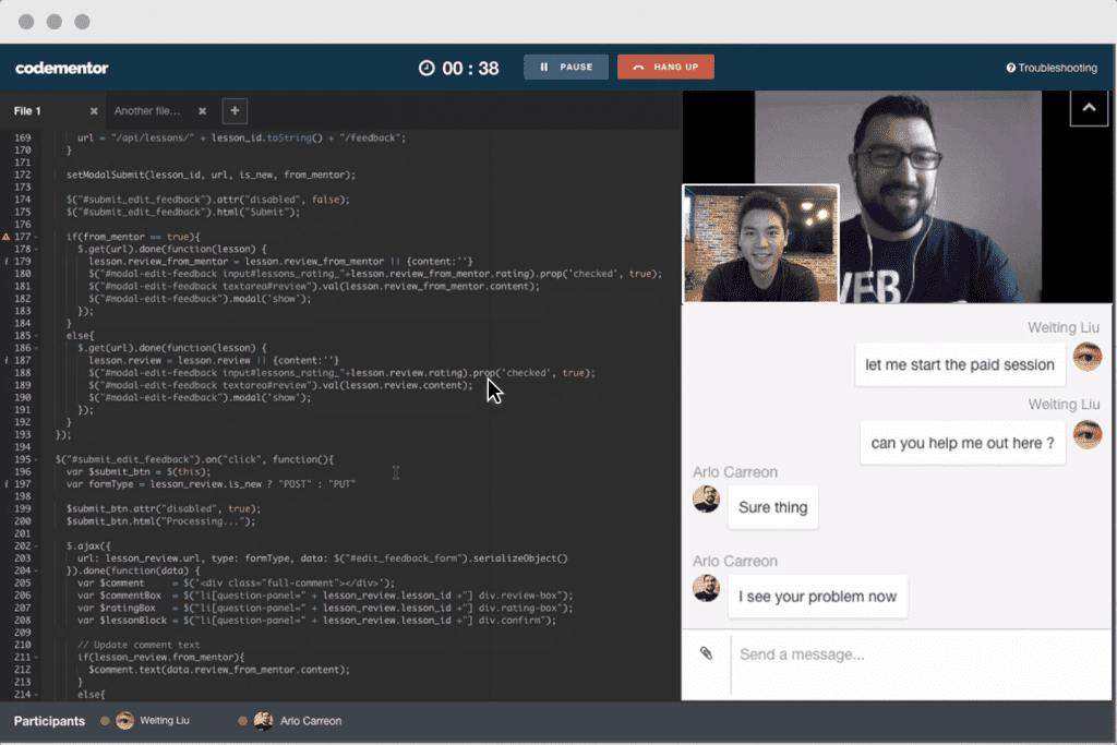 Codementor Video Chat