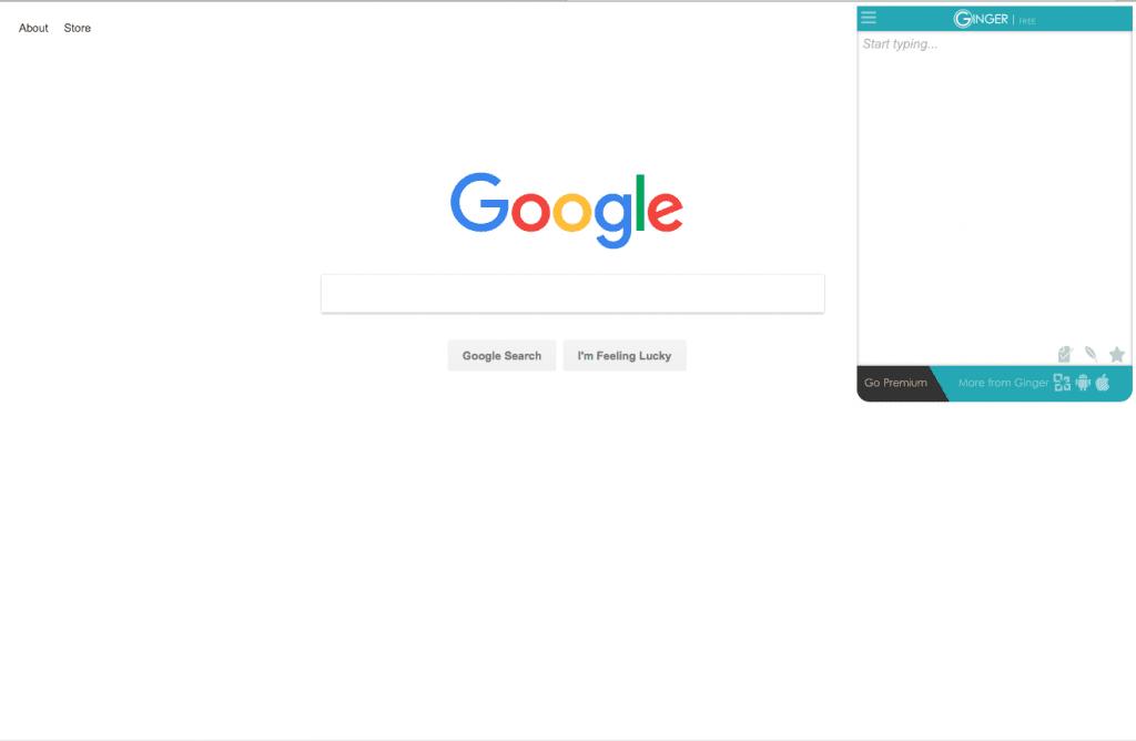 Ginger Google Extention