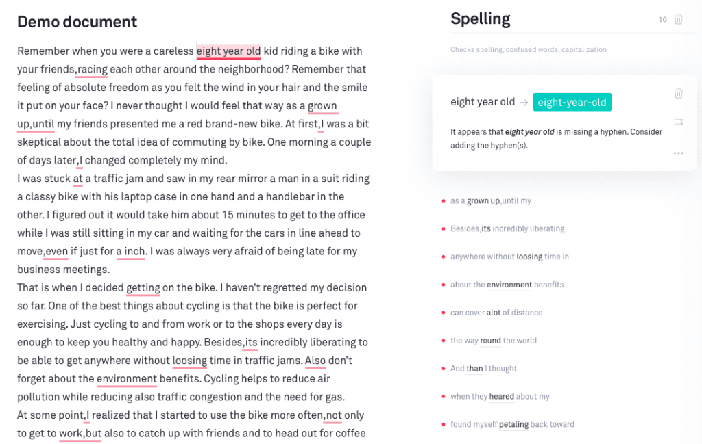 Grammarly Correct With Assistant