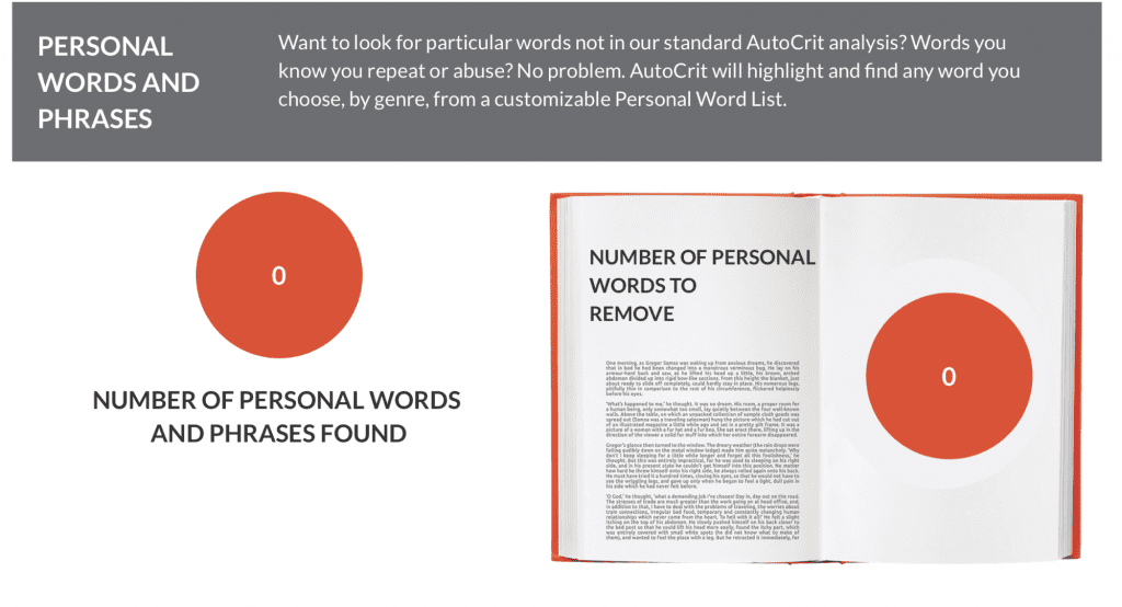 Autocrit personal words and phrases