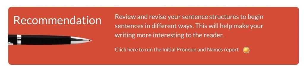 Autocrit recommendation