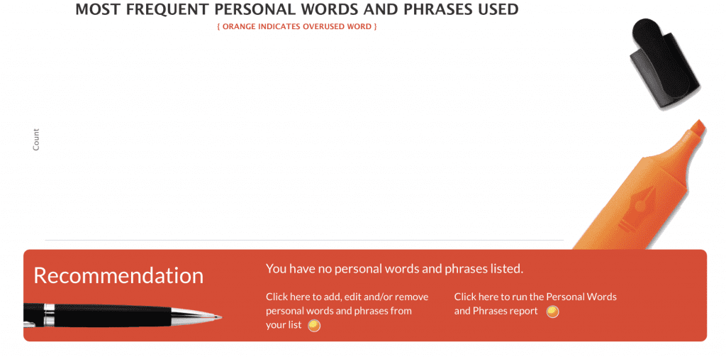 Autocrit personal words and phrases graph