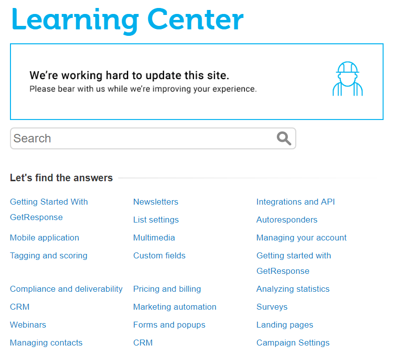 GetResponse-Learning-Center