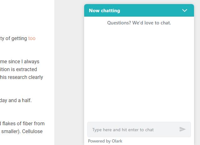 Olark Chat Box