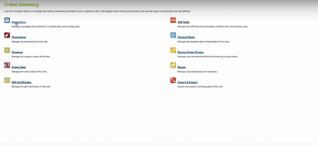 Salesforce Commerce Cloud modules