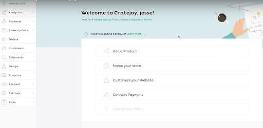 Cratejoy Setup Online Store