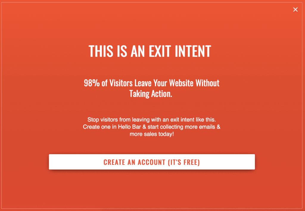 Hello Bar Create Account