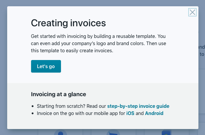 Wave Create Invoice Page