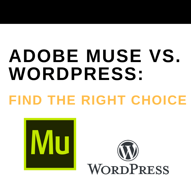 Adobe Muse vs  WordPress: Find the Right Choice - The