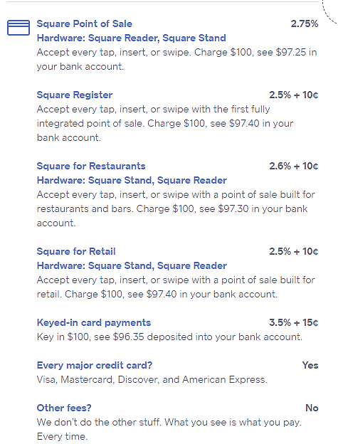 square transaction fees
