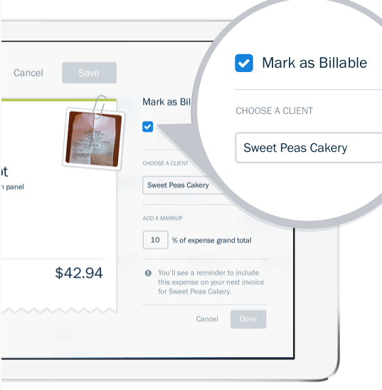 freshbooks billable expenses