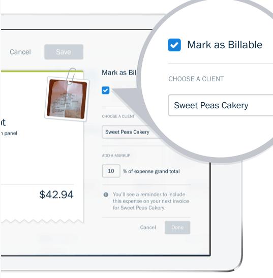 freshbooks billable expenses