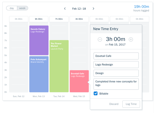 freshbooks timetracker dashboard