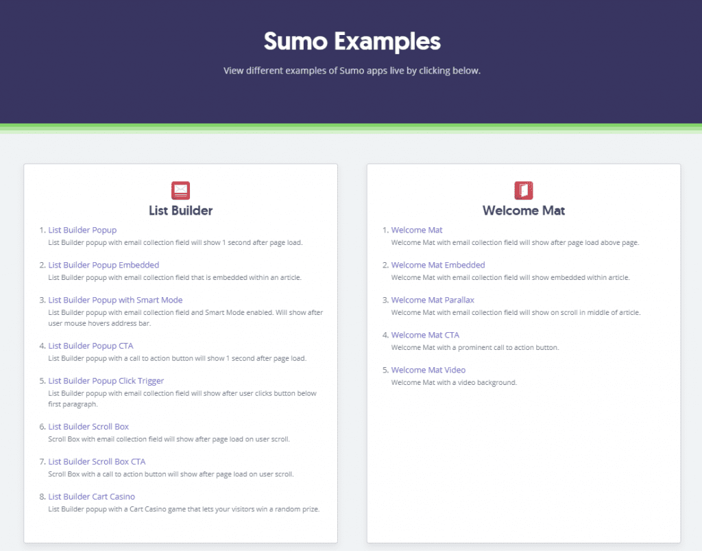 Sumo Examples