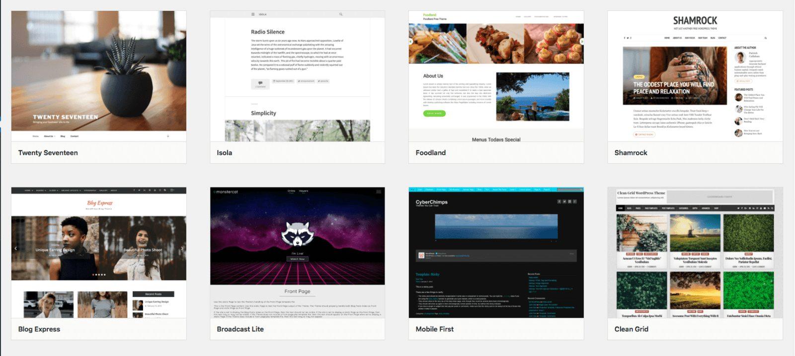 WordPress ready to go templates