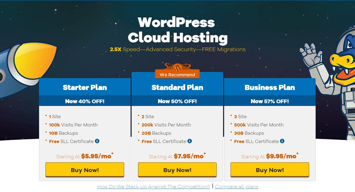 hostgator pricing plans