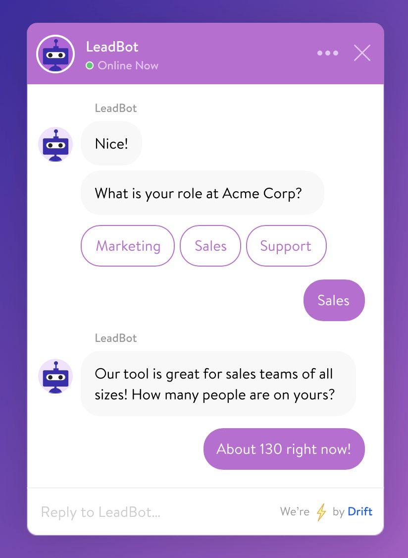 drift chatbots leadbots