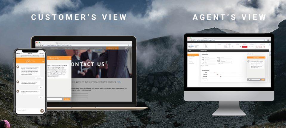 jacada customer view vs agent's view
