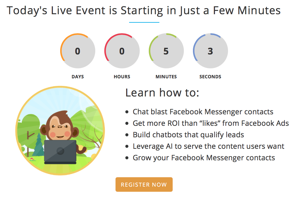 MobileMonkey register for live event