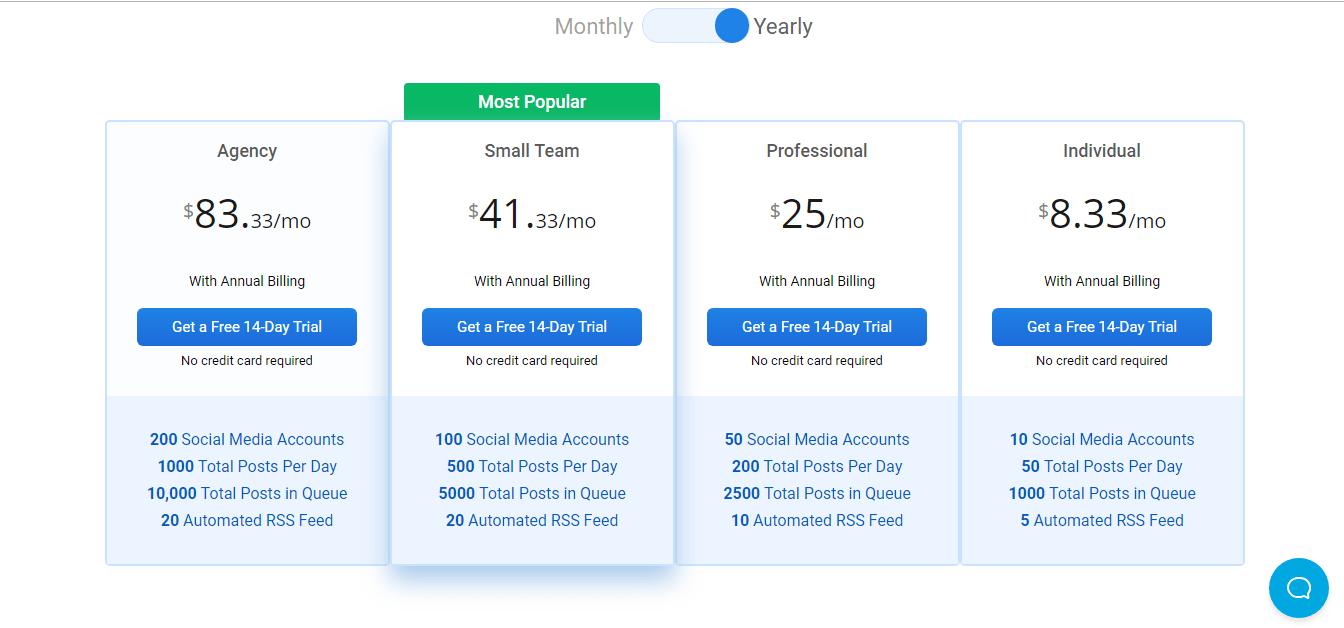 socialpilot pricing