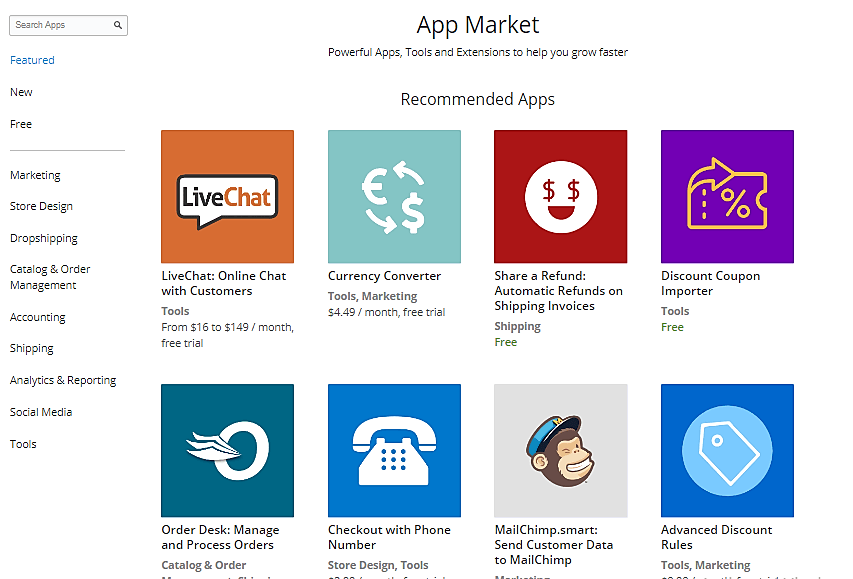 Ecwid's App Market