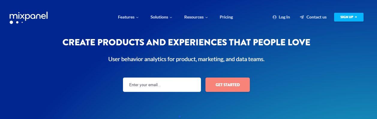 mixpanel home page