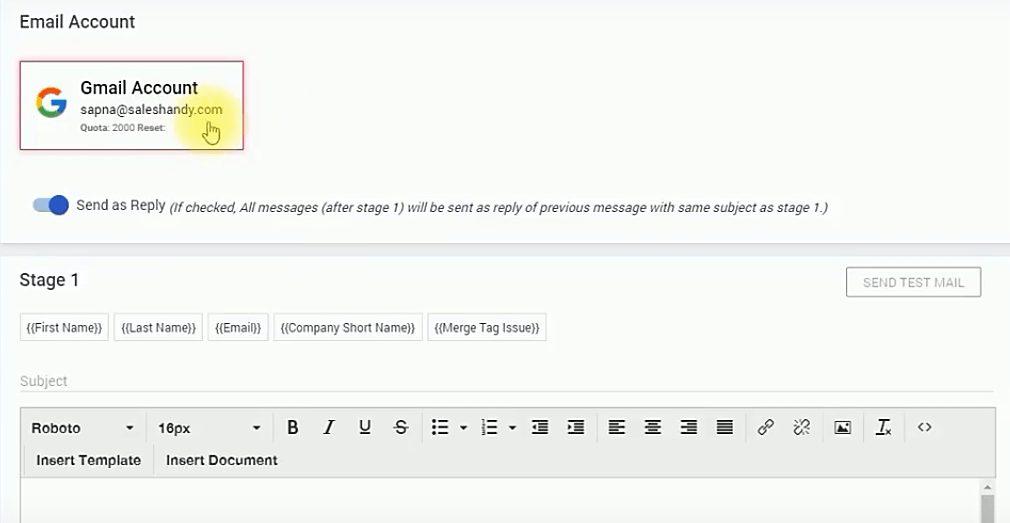 saleshandy mail merge