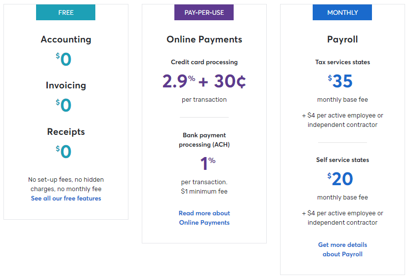 wave's pricing structure