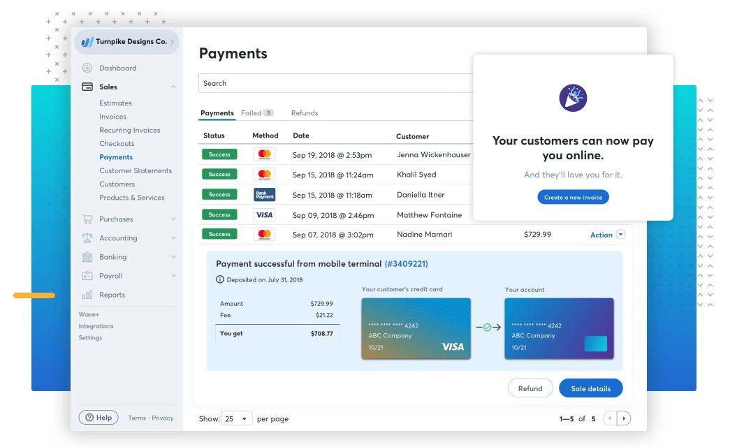 wave payment screenshot