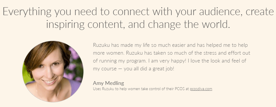 Why Go with Ruzuku?