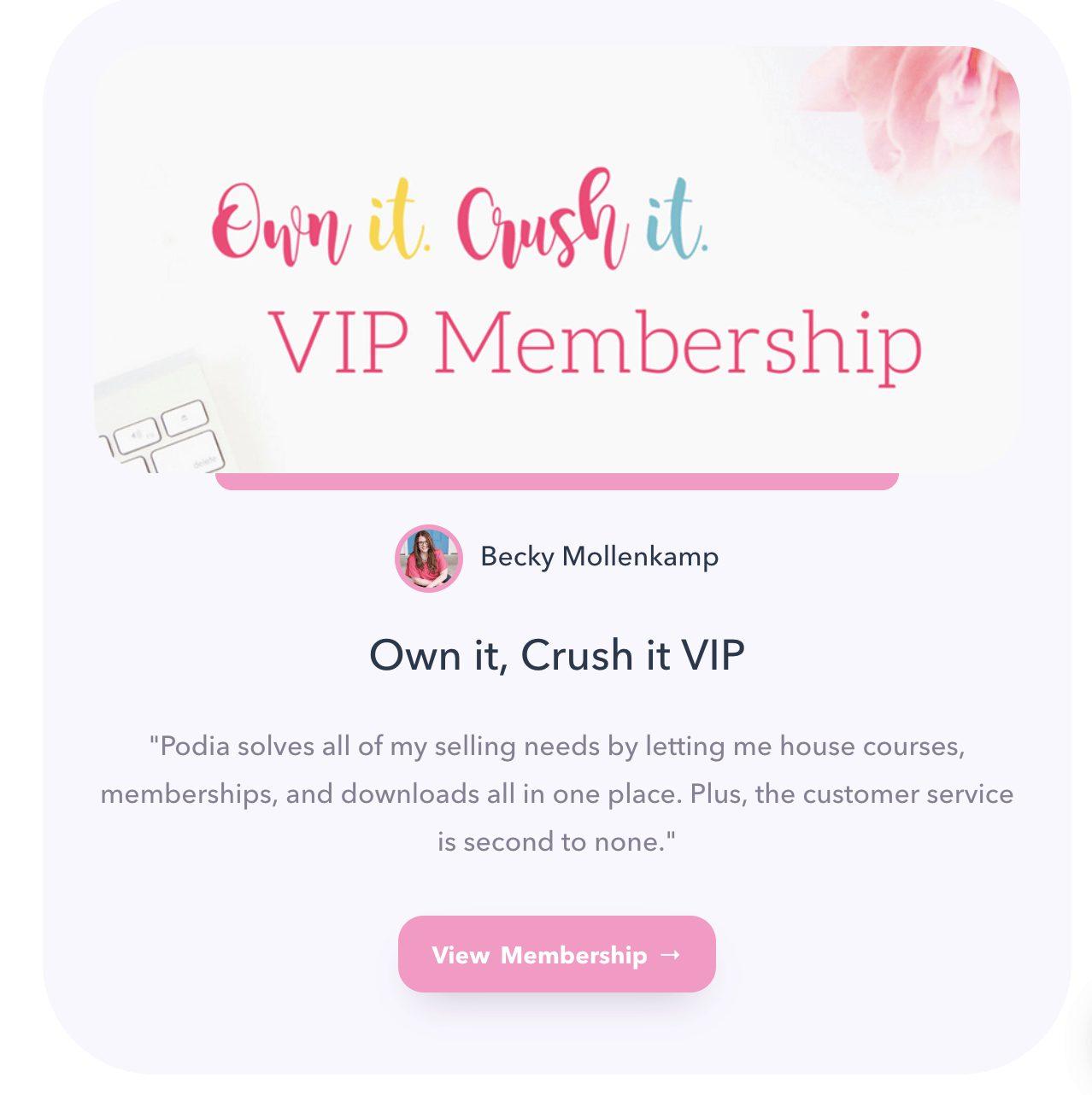 Podia VIP Membership