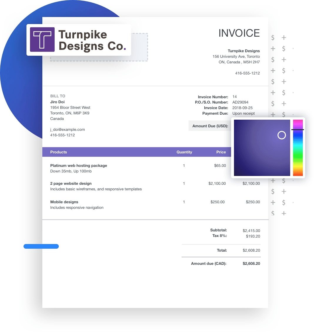 wave invoicing custom features