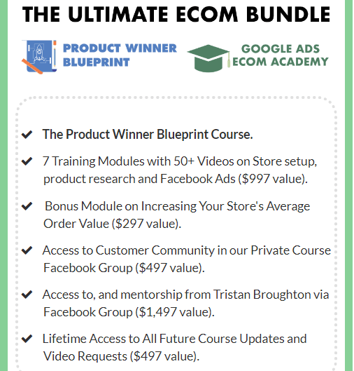 Product Winner Blueprint the ultimate ecom bundle