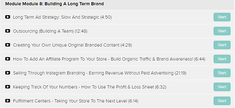 eCom Inner-Circle module 8 Building a Long Term Brand
