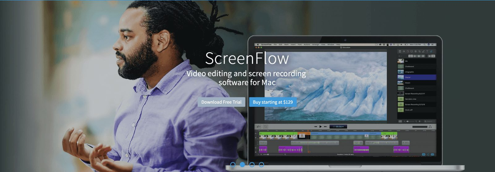 screenflow home page