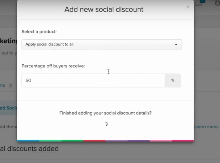 payhip add new social discount