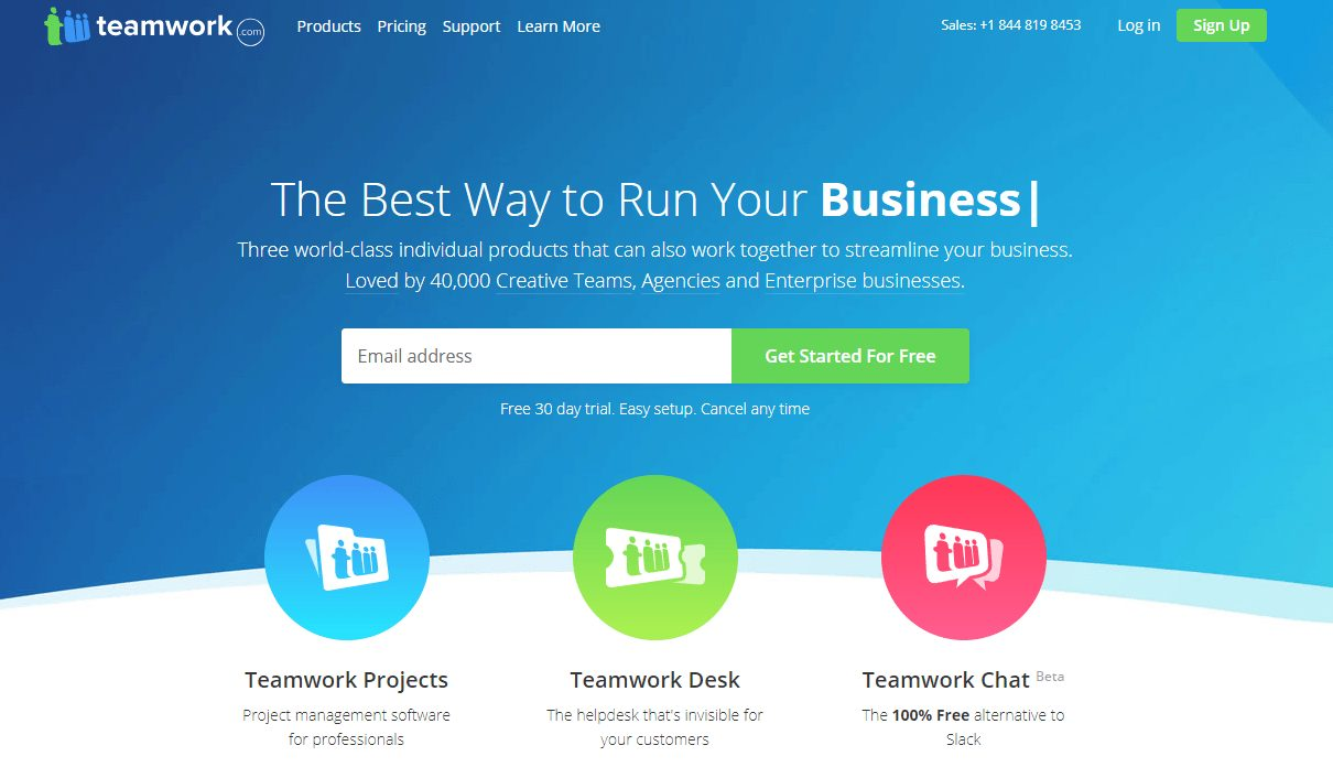 teamwork home page
